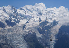 Piękna halna sceneria - Mont Blanc obraz royalty free