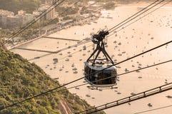 Wagon kolei linowej w Rio de Obraz Stock