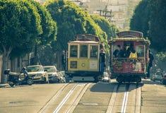Wagon kolei linowej w San Francisco, Kalifornia Obraz Royalty Free