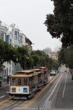 Wagon kolei linowej w San Fransisco Obrazy Royalty Free