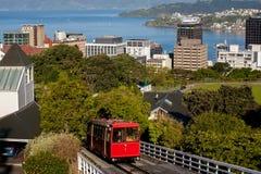 Wagon Kolei Linowej w Wellington, Nowa Zelandia fotografia stock