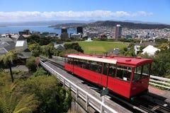 wagon kolei linowej Wellington fotografia stock