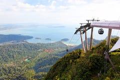 wagon kolei linowej wzgórza Langkawi Malaysia Fotografia Royalty Free