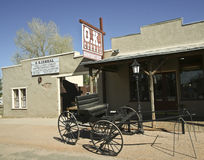 A Wagon at the O.K. Corral, Tombstone, Arizona Royalty Free Stock Photo