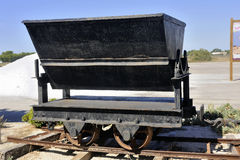 Wagon once used saline Aigues-Mortes Stock Images