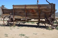 Wagon from the pioneer days Stock Images