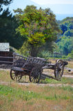 Wagon. Pioneer fashioned hand cart wagon stock photos