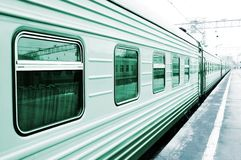 Wagon on the platform. Green tint wagon on the platform Stock Photos