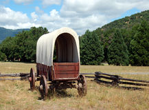 Wagon on the range Royalty Free Stock Photos