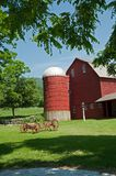 Wagon and Red Barn. Red barn and wagon in West Arlington, Vermont Royalty Free Stock Images
