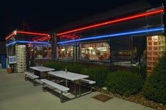 Wagon-restaurant à proche Image stock