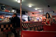 Wagon-restaurant américain de style à Buenos Aires photographie stock
