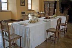 Wagon-restaurant au château photographie stock libre de droits