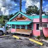 Wagon-restaurant de bord de la route Images libres de droits
