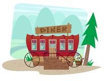 Wagon-restaurant de chariot Photo libre de droits