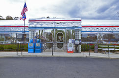Wagon-restaurant de cru images stock