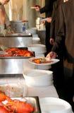 Wagon-restaurant de langoustine Image libre de droits