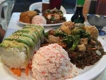 Wagon-restaurant de sushi Photos libres de droits