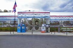 Wagon-restaurant de vintage dans une ville du sud de l'Ohio photographie stock libre de droits