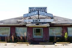 Wagon-restaurant minable abandonné photos stock