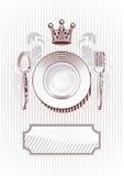 Wagon-restaurant royal Photos stock