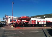 wagon-restaurant 50s sur le coin de la rue de Route 66 en Williams, AZ photo stock