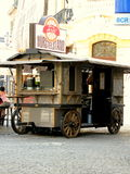 Wagon for selling hot dogs and drinks. Wagon for selling hot dogs. Picture taken in Bucharest,Romania Royalty Free Stock Photography