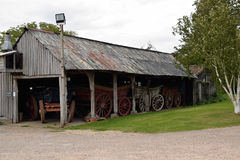 Wagon Shed Royalty Free Stock Photography