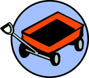 Wagon toy vector illustration. Vector ilustration of a wagon toy with wheels and handle Royalty Free Stock Photos