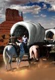 Wagon Train Flirt Royalty Free Stock Photo