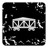 Wagon train icon, grunge style Royalty Free Stock Photo