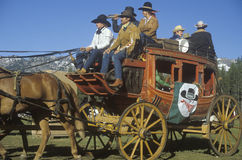 Wagon train near Sacramento Stock Photo