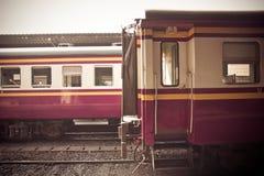 Wagon train. At railway station Stock Image