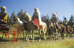 Wagon train reenactment, Royalty Free Stock Photo