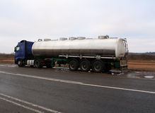 Wagon, transportations of fuel Royalty Free Stock Image