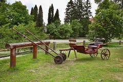 Wagon in Turaida village near Sigulda. Latvia Royalty Free Stock Photos