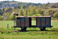 The wagon is a veteran Royalty Free Stock Photo