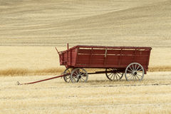 Wagon in the wheat field. Royalty Free Stock Photo