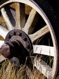 Wagon wheel. A wagon wheel at Bodie California stock photo