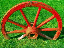 Wagon wheel. Royalty Free Stock Photo
