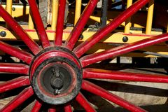 Wagon wheel detail. Wagon wheel and axis detail royalty free stock images
