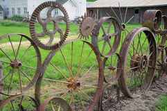 Wagon Wheel Fence Royalty Free Stock Photos