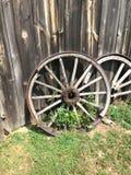 Wagon wheel. An old wagon wheel Stock Photo