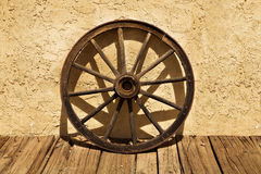 Wagon Wheel of the Old West Stock Images