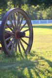Wagon Wheel Shadow Royalty Free Stock Photo
