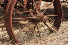 Wagon Wheel in Straw Royalty Free Stock Photos