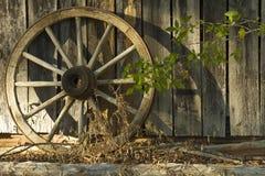 Wagon Wheel With Shadows Stock Photos