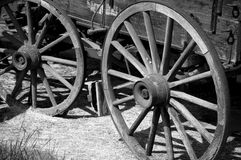 Wagon Wheels. This was an old horse pulled wagon that I saw beside the road near where I live stock photography