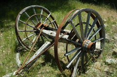 Wagon Wheels. Old Wagon Wheels circa 1890, King Canyon National Park Stock Photos