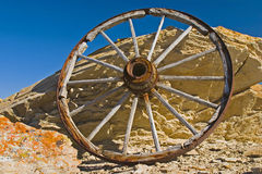Wagon Wheels of the West Stock Photos